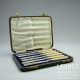 Set of Six Harrison Fisher & Co. Butter Knives in Original Velvet Lined Box c.1900-1920