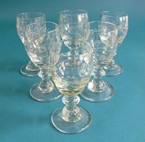 18th Century dram glasses