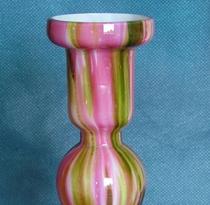 Splatter Glass Candlesticks