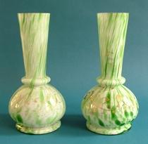 Splatter Glass Vases