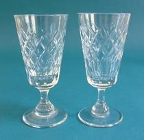 Tudor Crystal sherry glasses