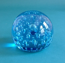 Whitefriars Sky Blue Paperweight