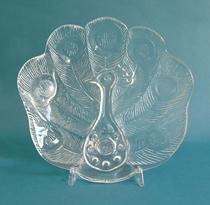 Orrfeors Peacock Plate